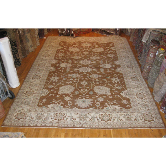 Beige and Brown Pakistani Rug