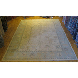 Light Blue and Ivory Anatolian Rug