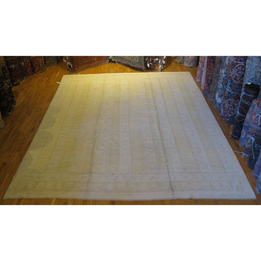 Ivory and Gold Turkish Rug