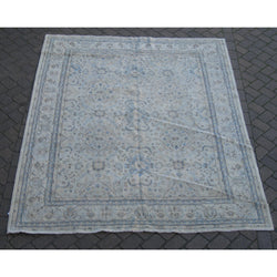 Blue and Ivory Medallions Rug