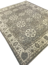 Gray Floral Medallions Rug