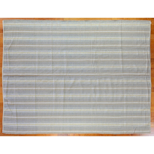 Sand Stripe Indian Wool Dhurrie Rug - 9' x 12'