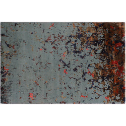 Blue Multi Abstract Rug
