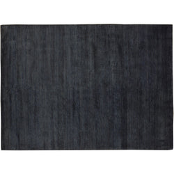 Charcoal Wool and Silk Rug