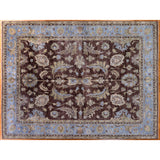 Blue and Brown Indo Oushak Area Rug
