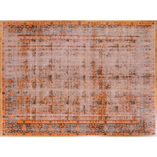 Orange Vintage Distressed Rug