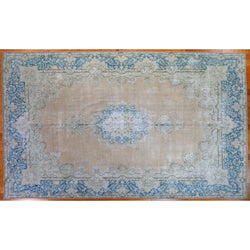 Blue Vintage Distressed Rug
