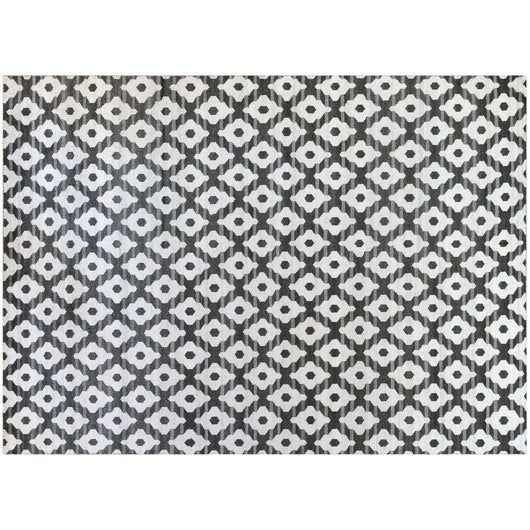 Slate and Ivory Pattern Rug