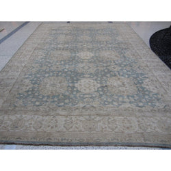 Blue and Beige Medallions Rug