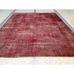 Red Distressed Rug