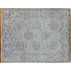 Blue and Grey Floral Area Rug