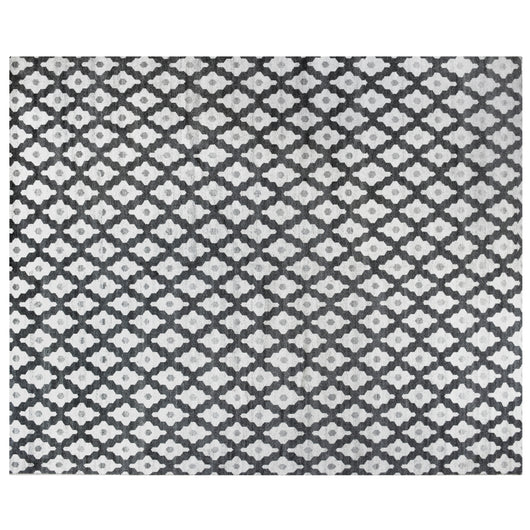 Black and White Pattern Rug