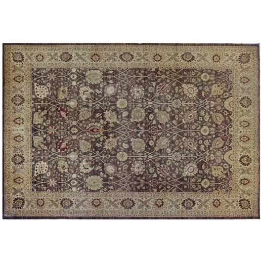 Brown Persian Design Rug