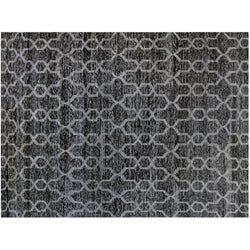 Black and Gray Interlock Pattern Rug