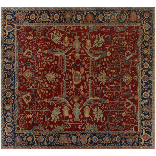 Red Turkish Traditional Rug