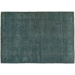 Teal Silky Wool Rug