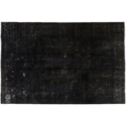 Black Distressed Rug