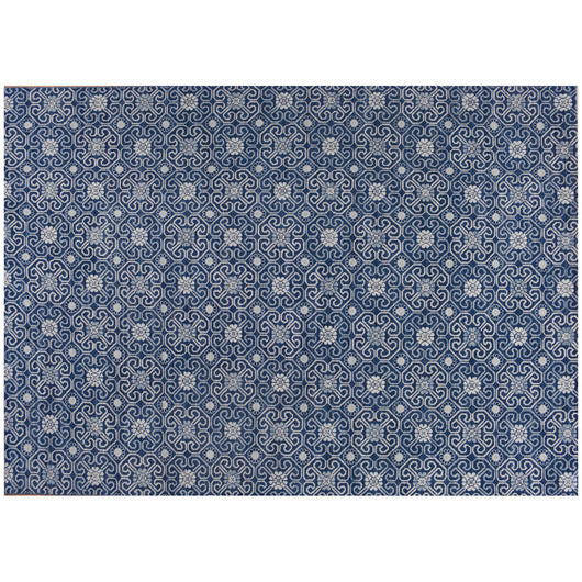 Blue Padma Collection Wool Area Rug