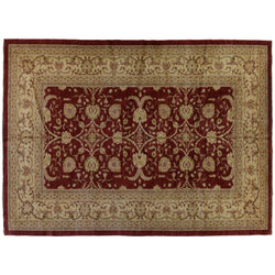 Red and Gold  Floral Rug