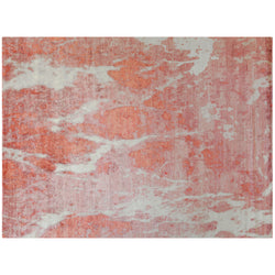 Marbled Rug in Pink and Ivory