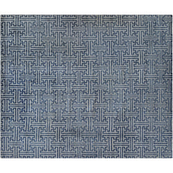 Blue and Beige Weave Area Rug