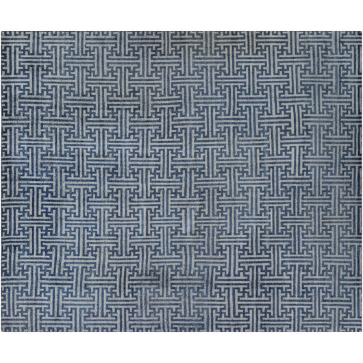 Blue and Beige Weave Rug
