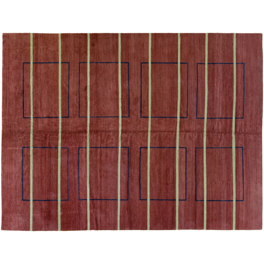 Contemporary Line and Box Design Rug