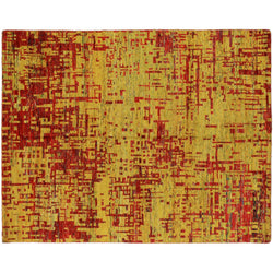 Gold and Red Echo Rug
