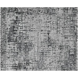 Silver and Black Abstract Rug