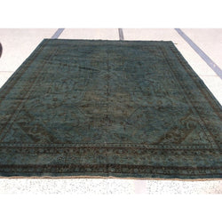 Blue Green Silky Wool Rug