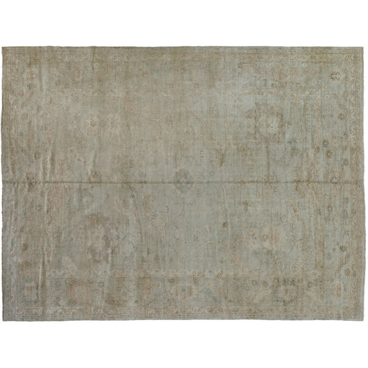 Beige Turkish Oushak Design Rug