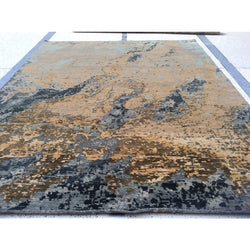 Beige Multi-Color Abstract Rug