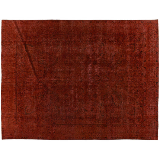 Red Silky Wool Rug