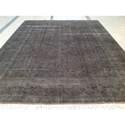 Dark Gray Overdyed Rug
