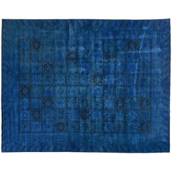 Royal Blue Silky Wool Rug