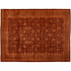 Red and Orange Silky Wool Rug