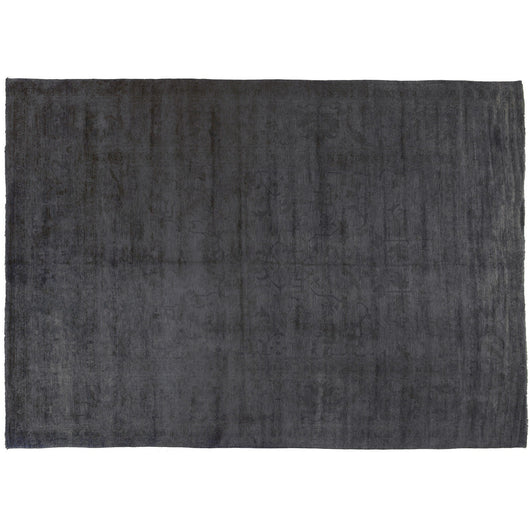 Gray Silky Wool Rug