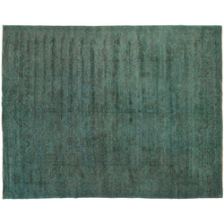 Green Silky Wool Rug