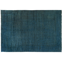 Dark Teal Silky Wool Rug