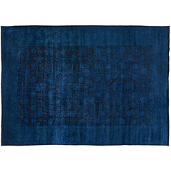 Deep Blue Silky Wool Rug