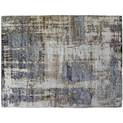 Beige Silver Multi Abstract Rug
