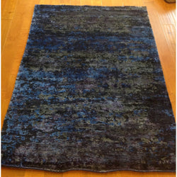 Dark Blue and Purple Multi Abstract Rug