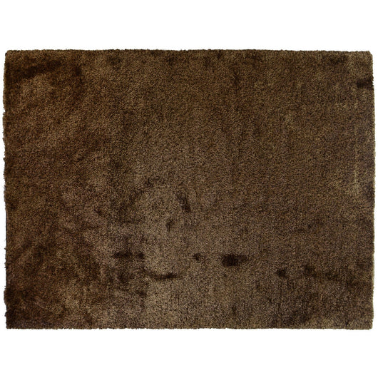 Brown Velvety Shag Rug