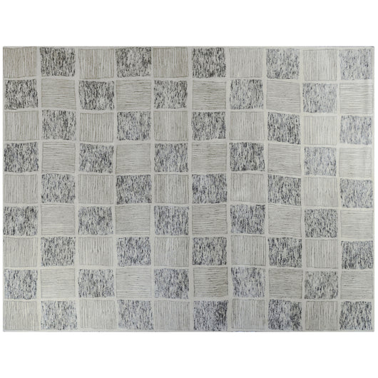 Hand Tufted Wool Checkerboard Rug