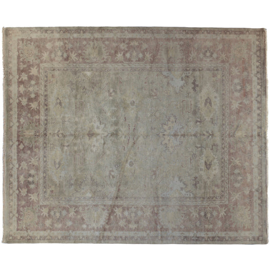 Traditional Area Rug in Brown and Green