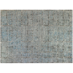 Light Blue Grid Rug