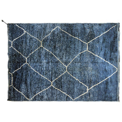 Denim Blue Moroccan Rug