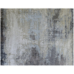 Silver Gray Multi Abstract Rug