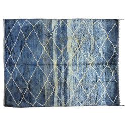 Blue Ombre Moroccan Rug