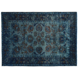 Blue Silky Wool Rug